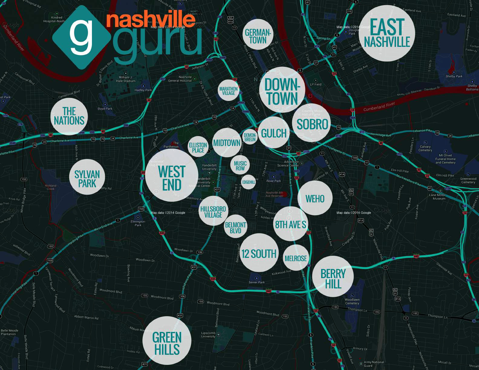 Nashville-Guru-Neighborhood-Map