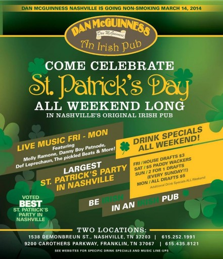 Dan McGuinness St. Patrick's Day