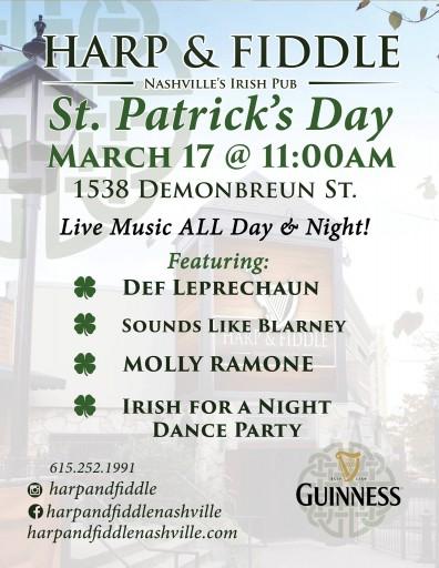 Harp & Fiddle St. Patrick's Day