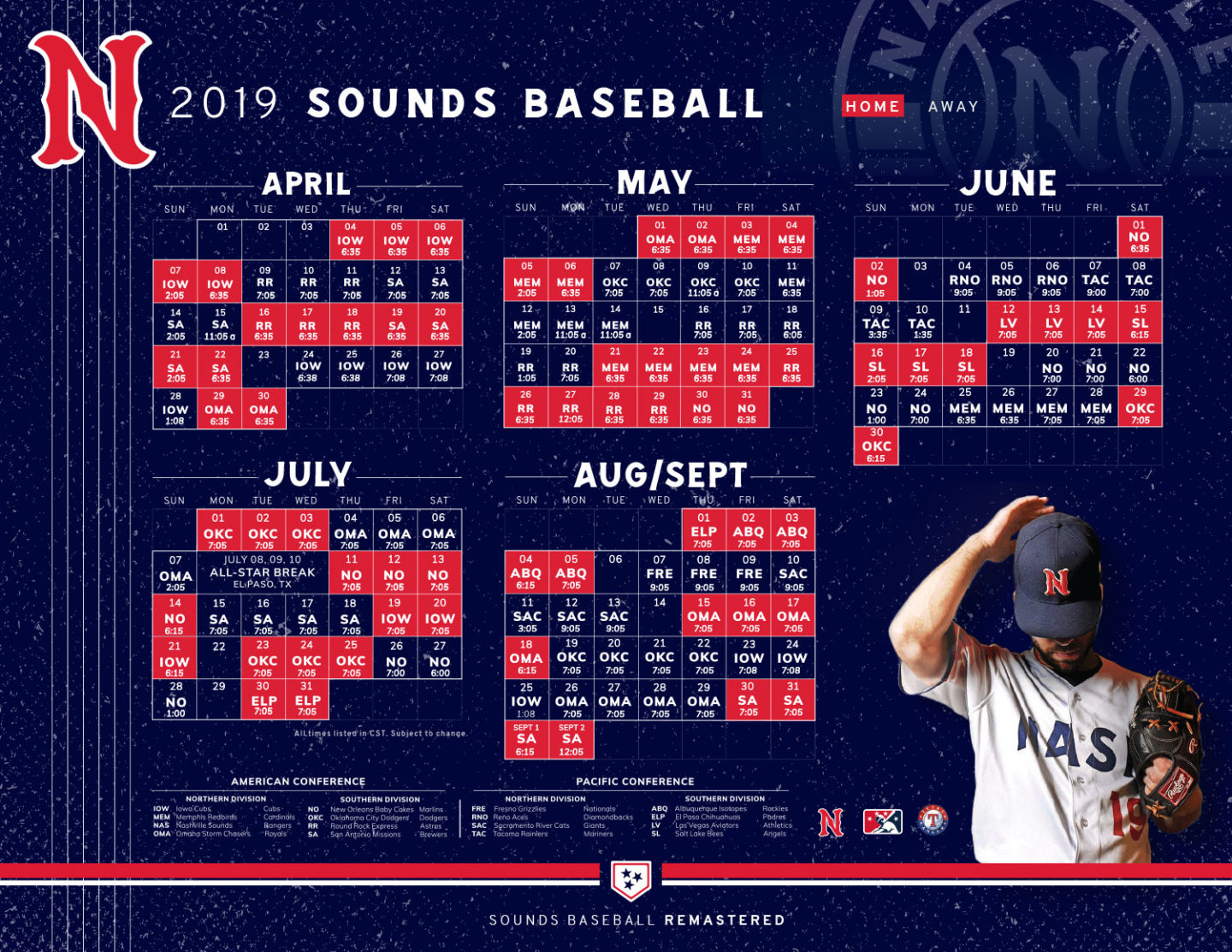 photo relating to Printable Mets Schedule known as Nashville Appears 2019 Program Tickets Nashville Expert