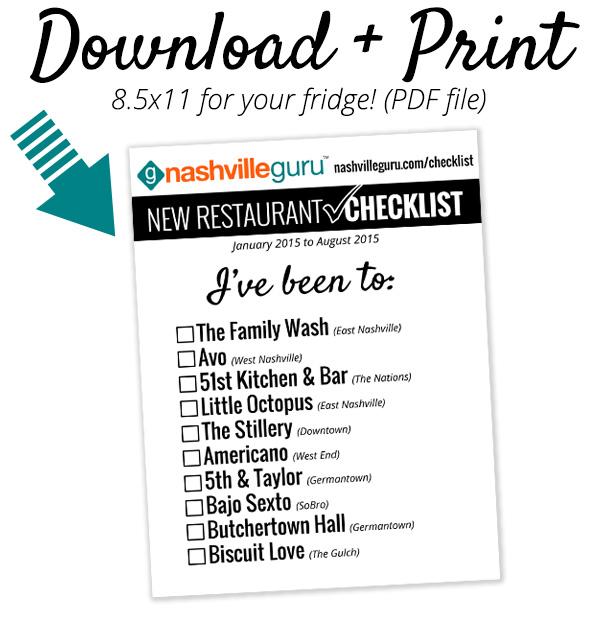 New Restaurant Checklist Download Letter August 2015