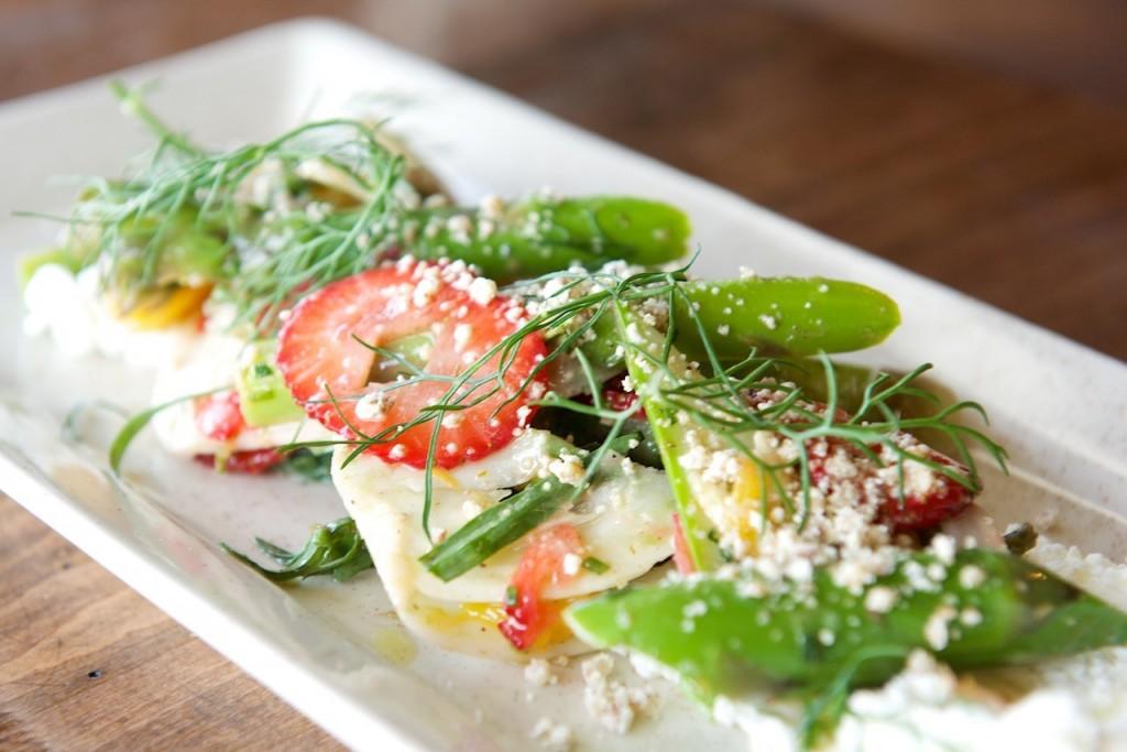 the sutler - strawberry asparagus fennel salad