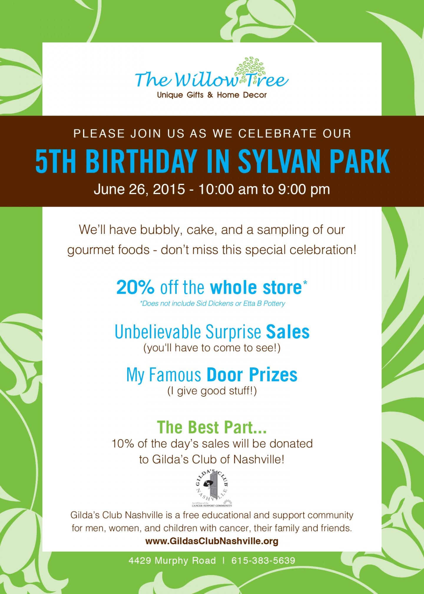 5th Anniversary Invitation