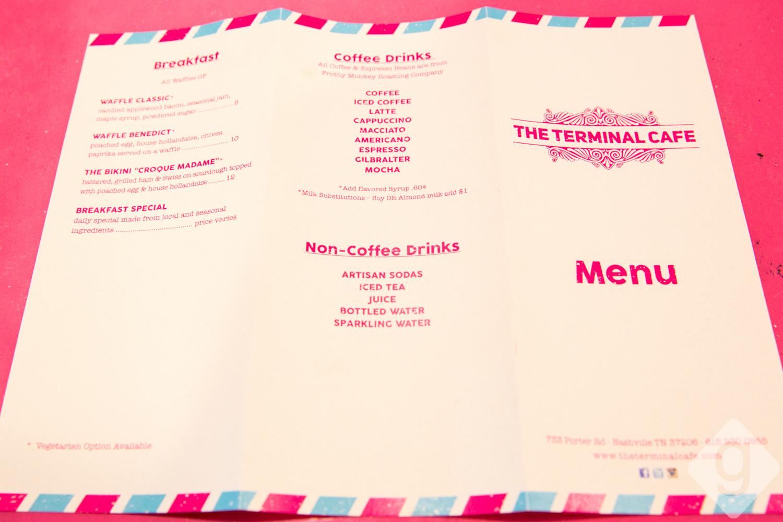 Terminal Cafe Nashville Menu