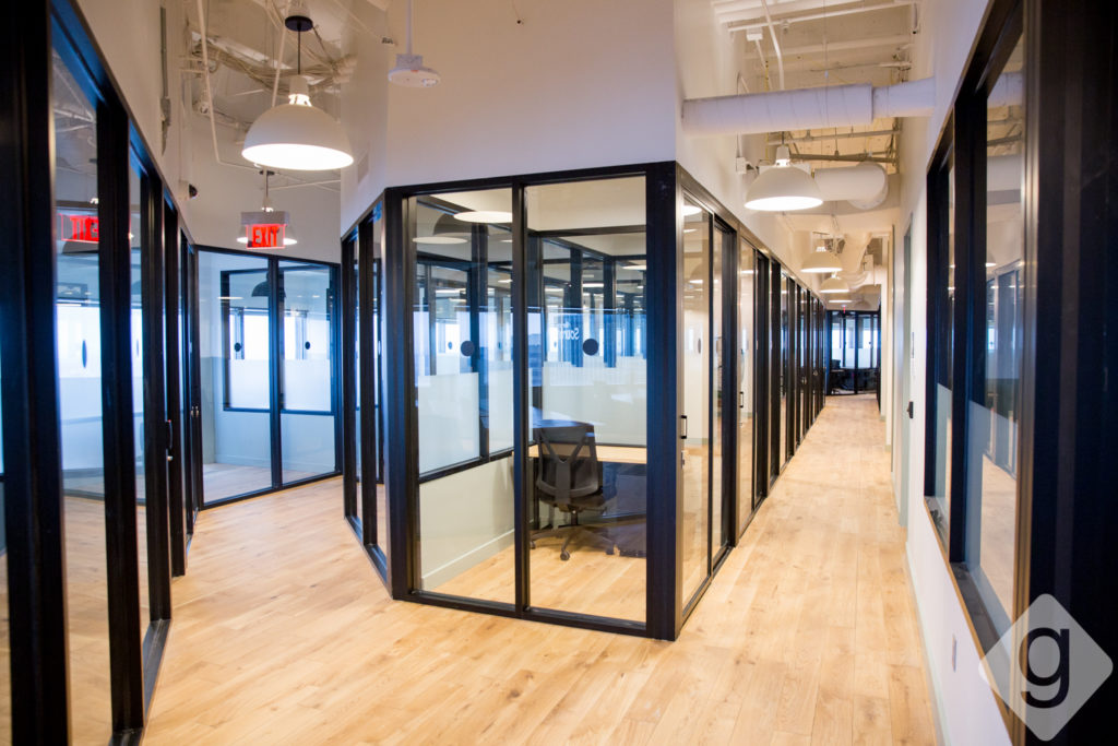 A Look Inside Wework A Co Working Space In Downtown