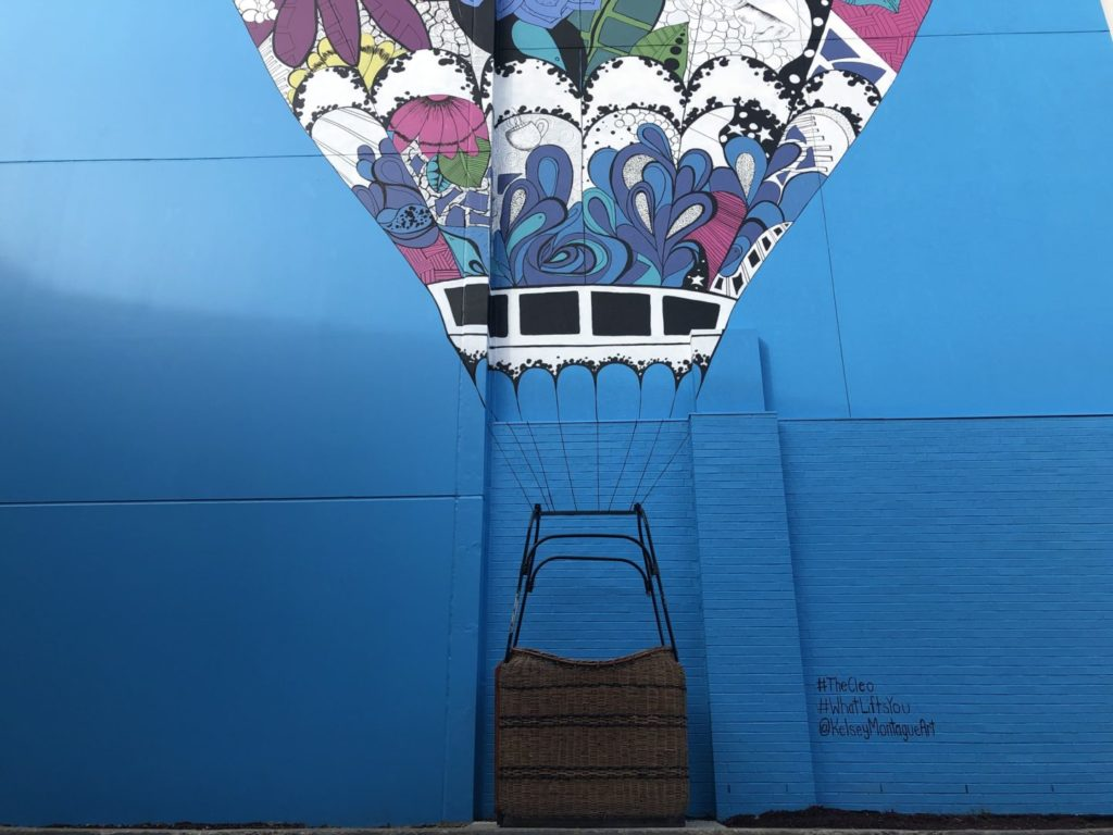 What Lifts You Air Balloon Mural at The Cleo in East Nashville