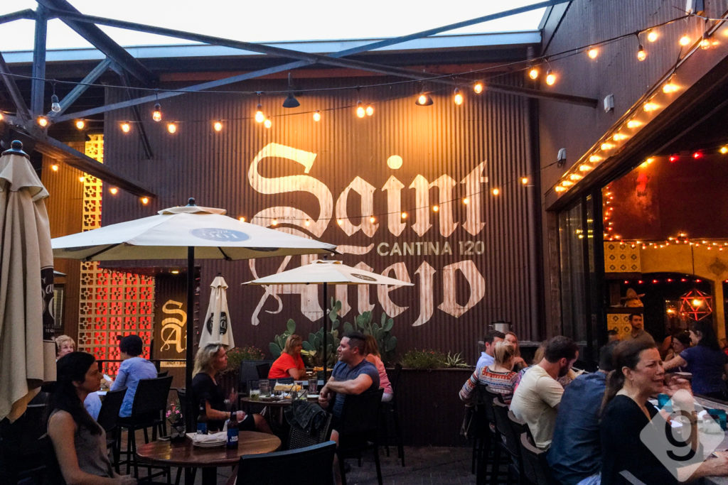 Saint Anejo Has A Patio Tucked Away On Mcgavock Street That You May Not Notice At First It Great Indoor Outdoor Vibe Since The Gl Wall Bar